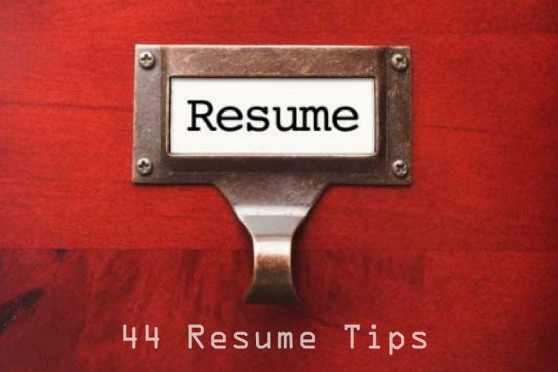 44 deadly resume writing tips