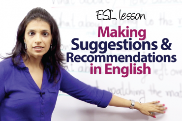Making suggestions and recommendations &#8211; ESL Lesson