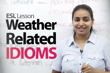 Weather related idioms, vocabulary &#038; phrases
