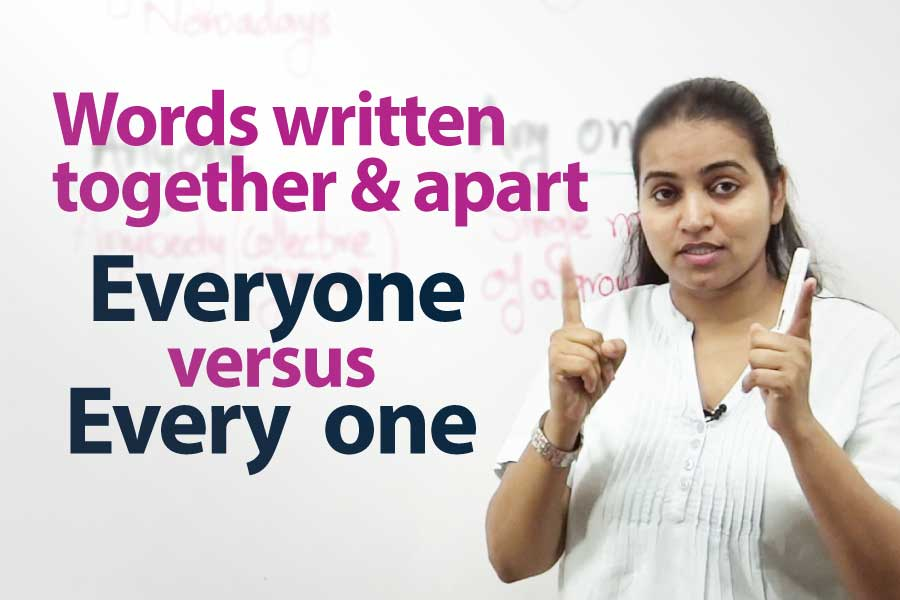 Words Written Together And Apart &#8211; English writing lesson