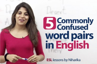 5 commonly confused word pairs in English.